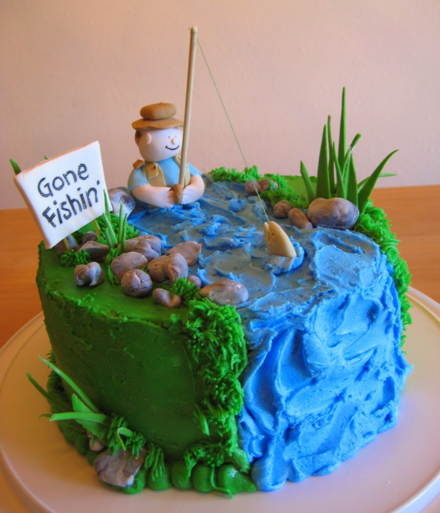 Marvelous The Top 23 Ideas About Fishing Birthday Cake Best Round Up Personalised Birthday Cards Veneteletsinfo