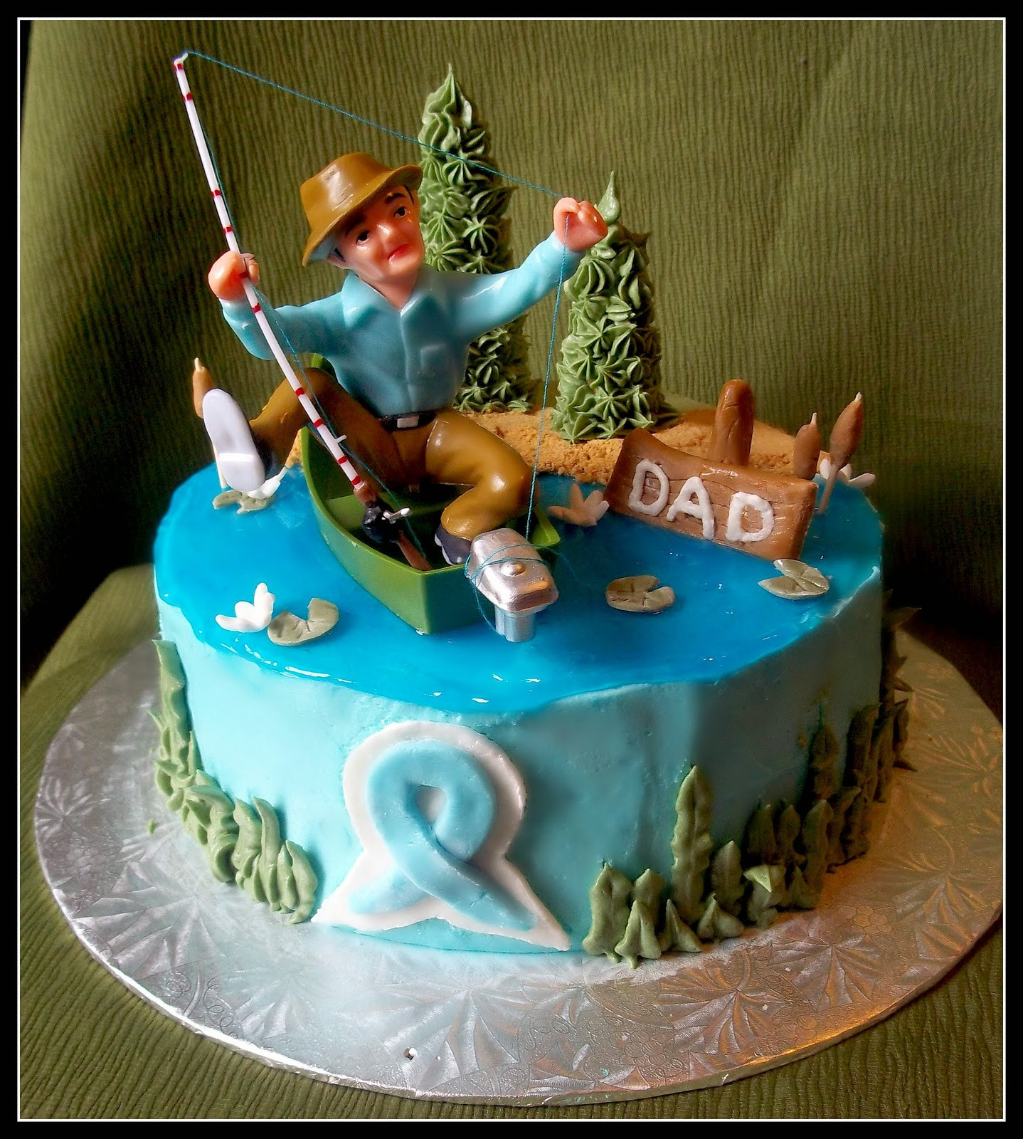 Fine The Top 23 Ideas About Fishing Birthday Cake Best Round Up Funny Birthday Cards Online Overcheapnameinfo