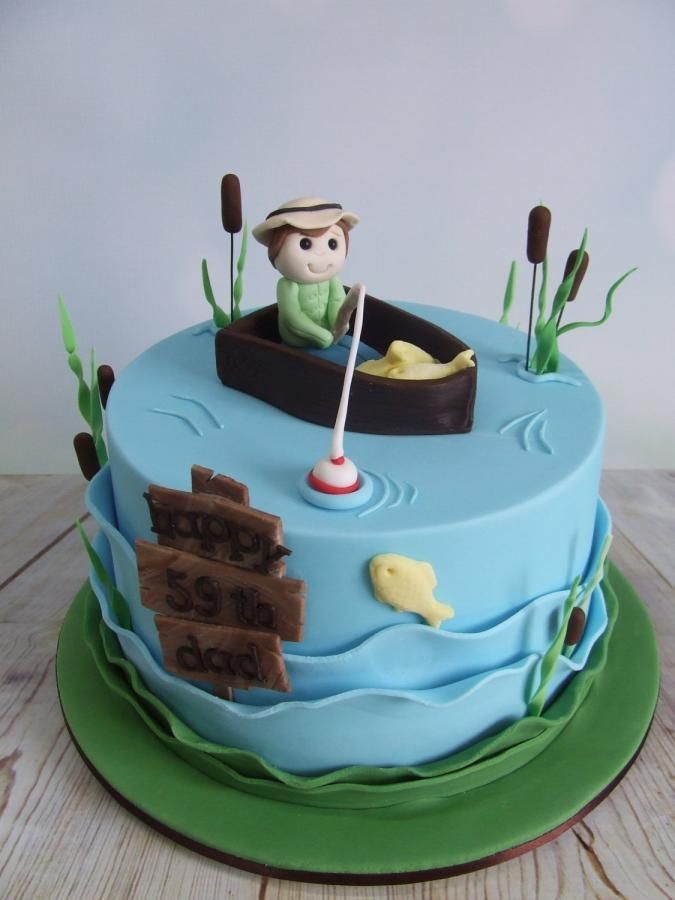 Prime The Top 23 Ideas About Fishing Birthday Cake Best Round Up Funny Birthday Cards Online Elaedamsfinfo